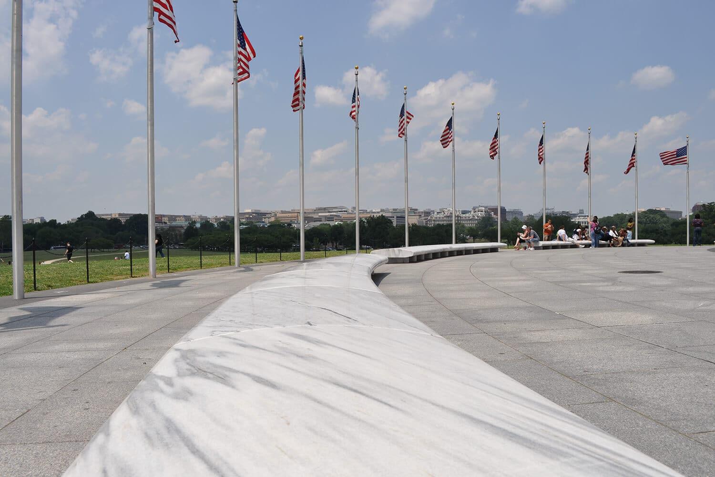 Bancs du Washington Monument