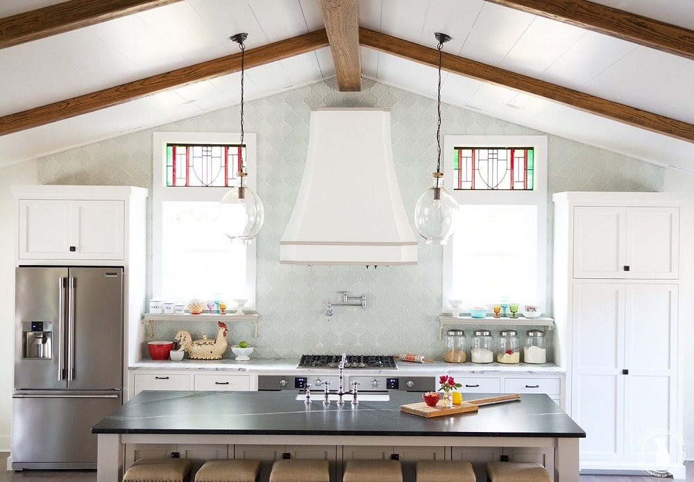 Two-Tone Farmhouse Kitchen