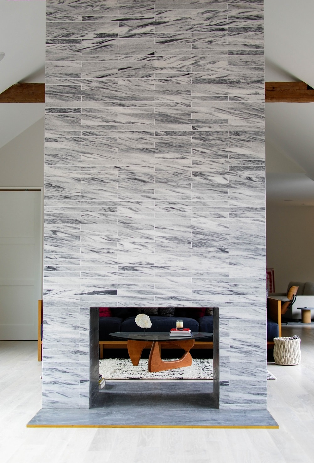 Double Sided Beach House Fireplace