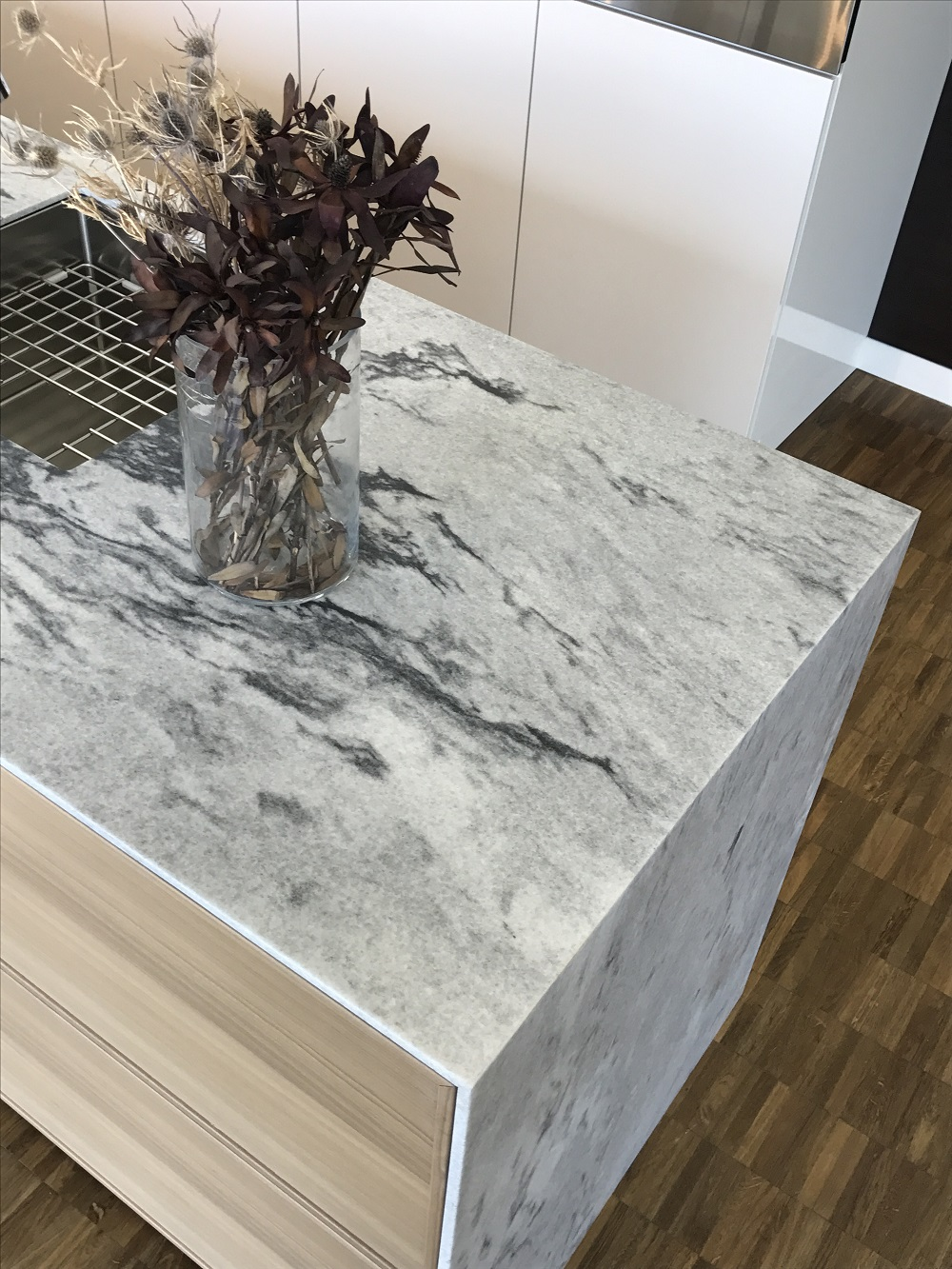 Thin Slab Marble Kitchen