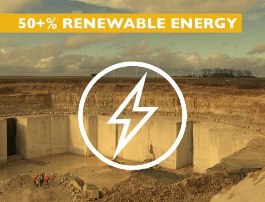 50+% Renewable Energy