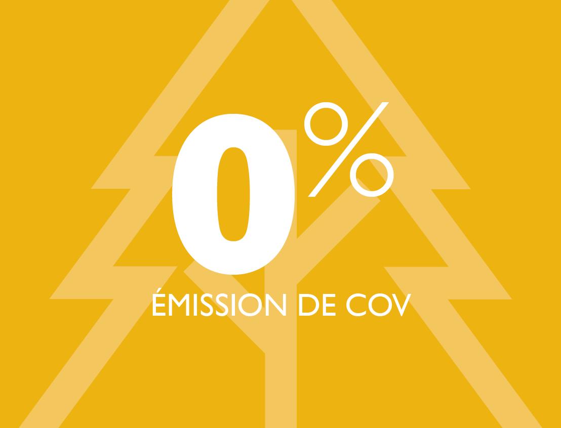 0 % COV émis