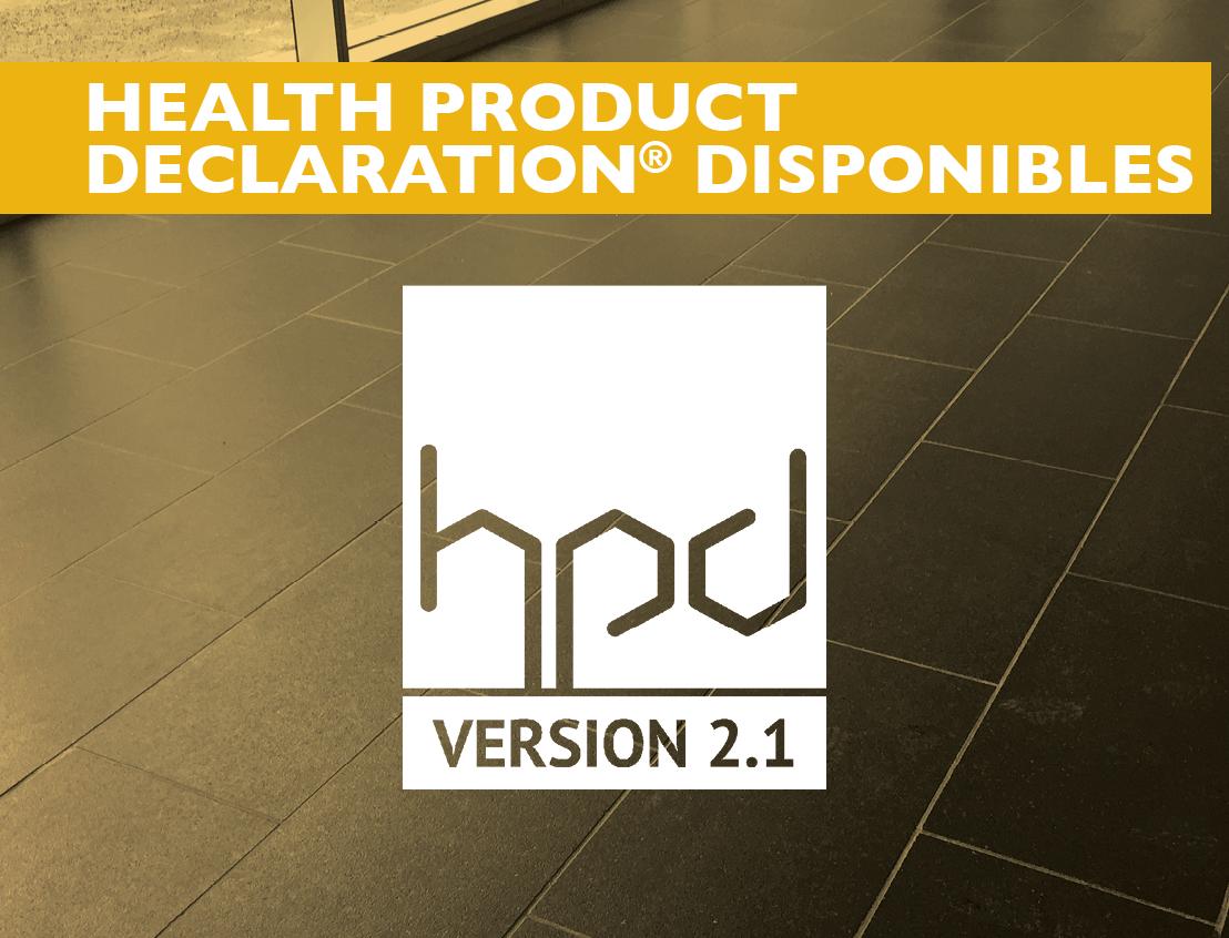 Données disponibles : Health Product Declaration®