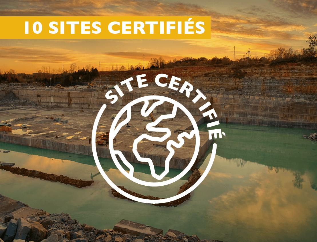 10 sites certifiés