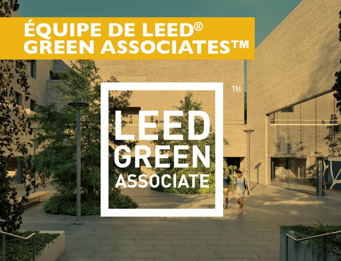 Une équipe d'Associés écologiques LEED®