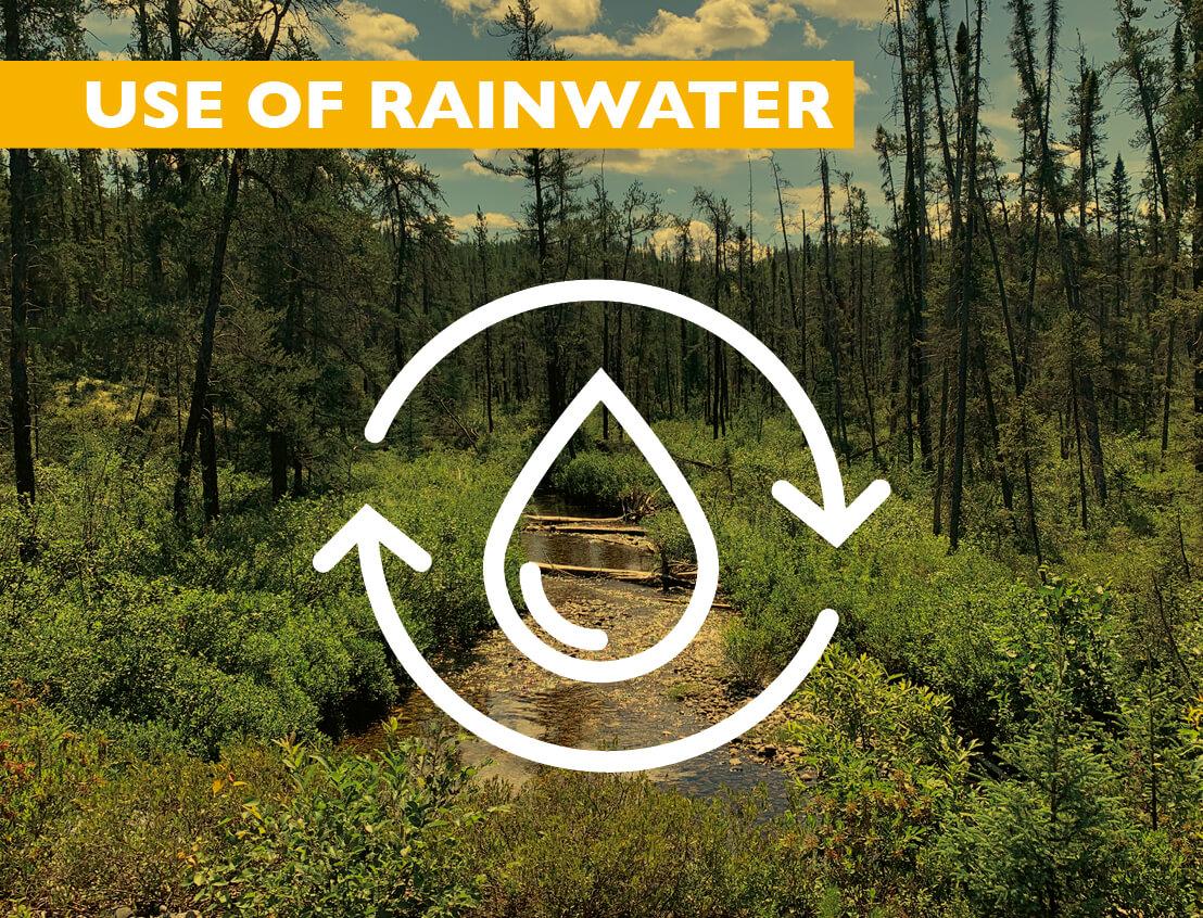 Use of 100% Non-Potable Water